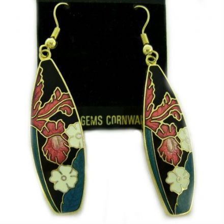 Cloisonne Hook Earrings SE22